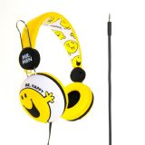 Mr Happy Mr Men Headphones - Junior / Kids